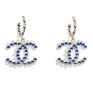 Chanel CC 19 Earrings enamel beads